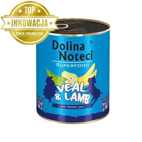 Консерви 800 г з телятиною та ягням DN Superfood для собак Dolina Noteci