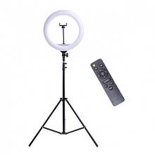 Кольцевая лампа на штативе Ring для блогера / селфи / визажиста D 32 см с пультом ДУ (00-0000556)