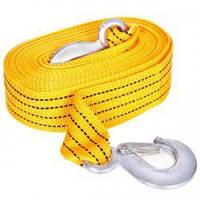 Трос буксировочный ST205B/TP-207-3-1 3т лента 46мм х 6м желтый/крюк/в кульке