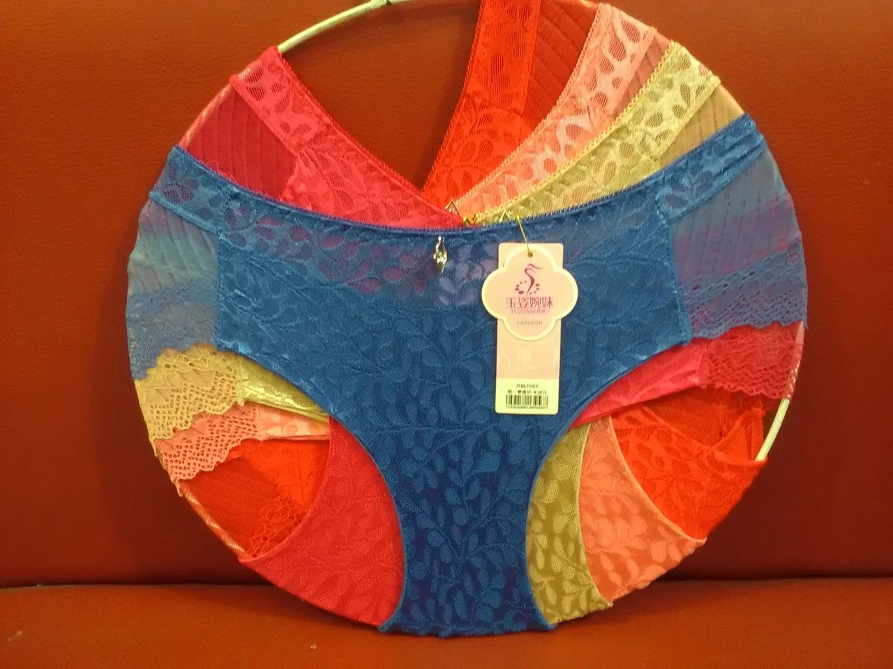 Женские трусики хлопок с гипюром Р.р 46-48 один цвет в упаковке