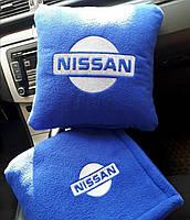 """Автомобильный плед-подушка с вышивкой логотипа """"Hissan"""", фото 3"""