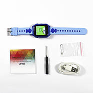 Оригинальные умные-часы телефон детские JETIX DF30 GPS с камерой и защитой от воды IP67  (Blue), фото 5