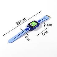 Оригинальные умные-часы телефон детские JETIX DF30 GPS с камерой и защитой от воды IP67  (Blue), фото 4