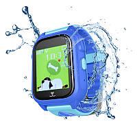 Оригинальные умные-часы телефон детские JETIX DF30 GPS с камерой и защитой от воды IP67 (Blue)