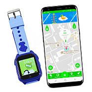 Оригинальные умные-часы телефон детские JETIX DF30 GPS с камерой и защитой от воды IP67  (Blue), фото 3