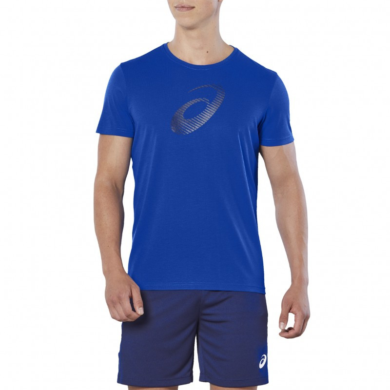 Asics GPX SS TOP 155241-438 Мужская футболка яркая фирменная