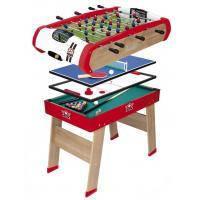 Настольная игра Smoby Деревянный полупрофессиональный стол Power Play 4 в 1 120х90 (640001)