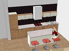 Дизайн кухни, гостиной, кабинета, спальни, детской, всей квартиры, торгового помещения, салона красоты