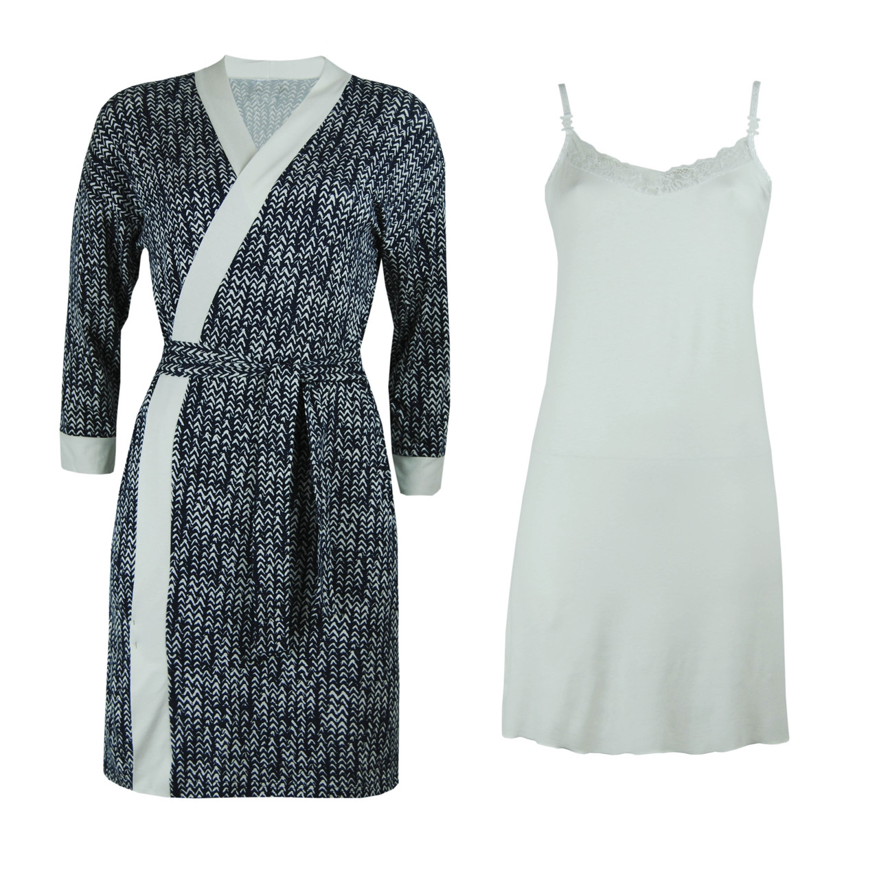 Комплект двойка халат и ночная рубашка для беременных и кормящих вискоза