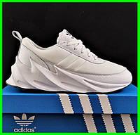 Кроссовки Adidas $harks Мужские Адидас Бело Акулы (размеры: 42,43,44,45) Видео Обзор