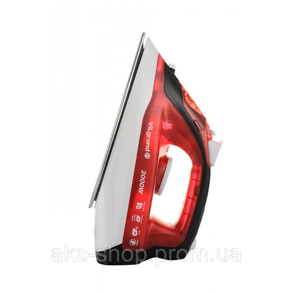 Утюг с паром ViLgrand VEI0203 Red мощность 2000 Вт покрытие нержавеющая сталь