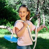 Детские качели из дерева тарзанка качеля подвесная детская «ЭЛИТ», гимнастическая для шведской стенки, лазурь, фото 1