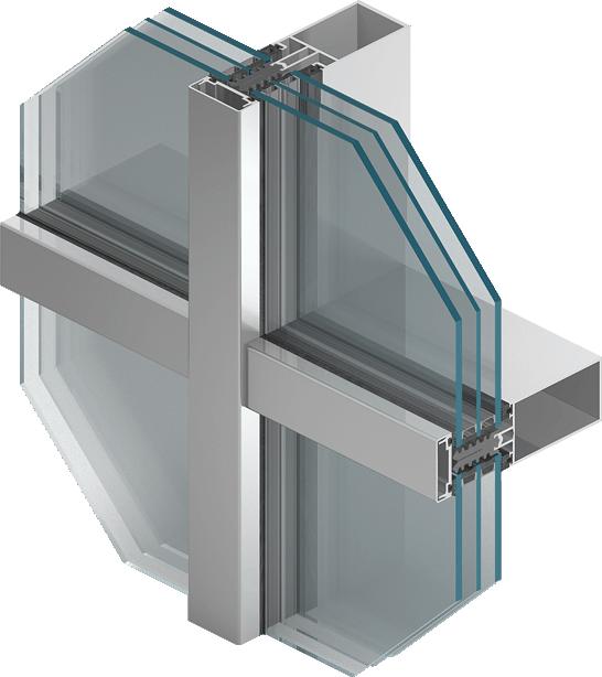 Система стоечно-ригельного фасада MB-SR50N HI+