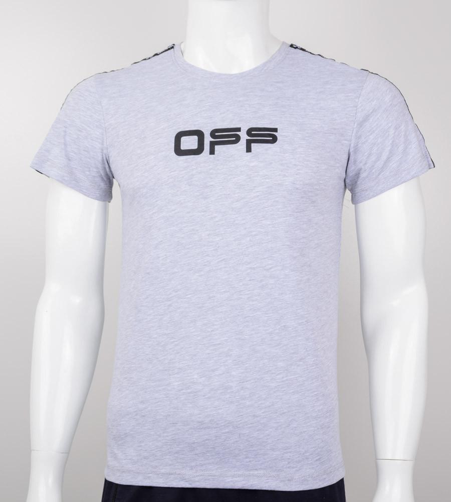 Футболка мужская Off-White (0908м), Серый