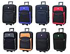 Дорожный чемодан на колесах Bonro Style маленький чёрный с синим, фото 5