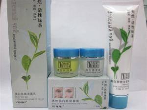 Очищающее Средство YINNI Green tea 100г, для ухода за кожей лица, отбеливание веснушек, контроль жирности