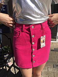 Джисовая юбка Малинового цвета