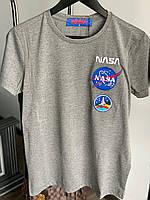 Мужская футболка NASA M368 серая