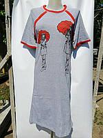 Платье майка женская серое   Хлопок 100% Турция Длина 104-107 см Размеры XL-4XL (50-60)