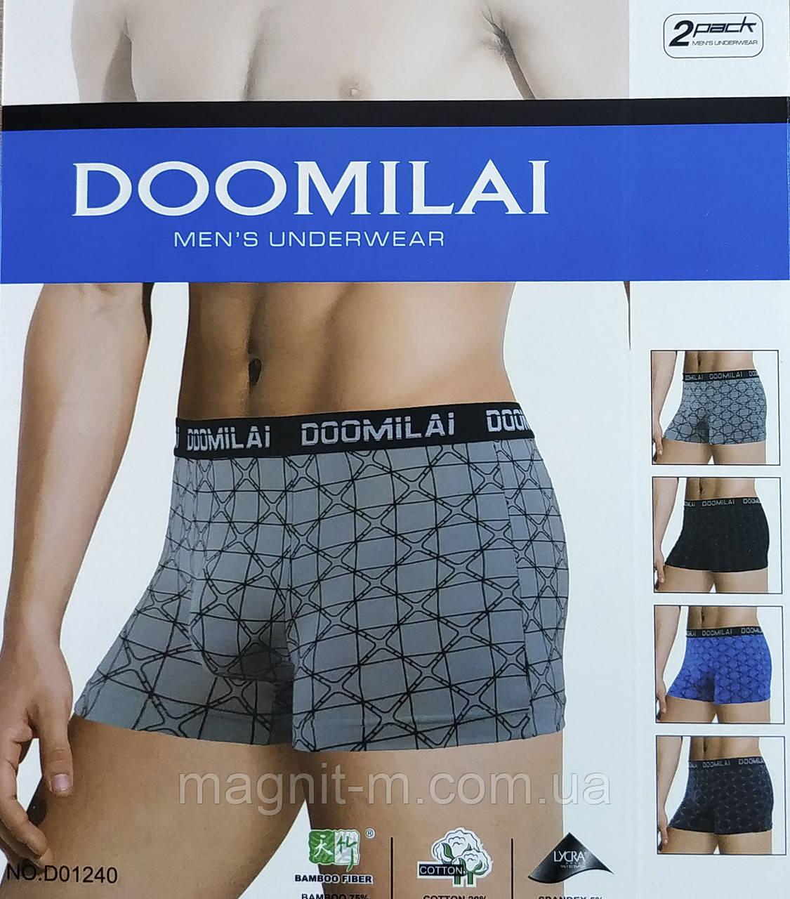 Мужские боксеры Doomilai. Хлопок+бамбук.   D01240.