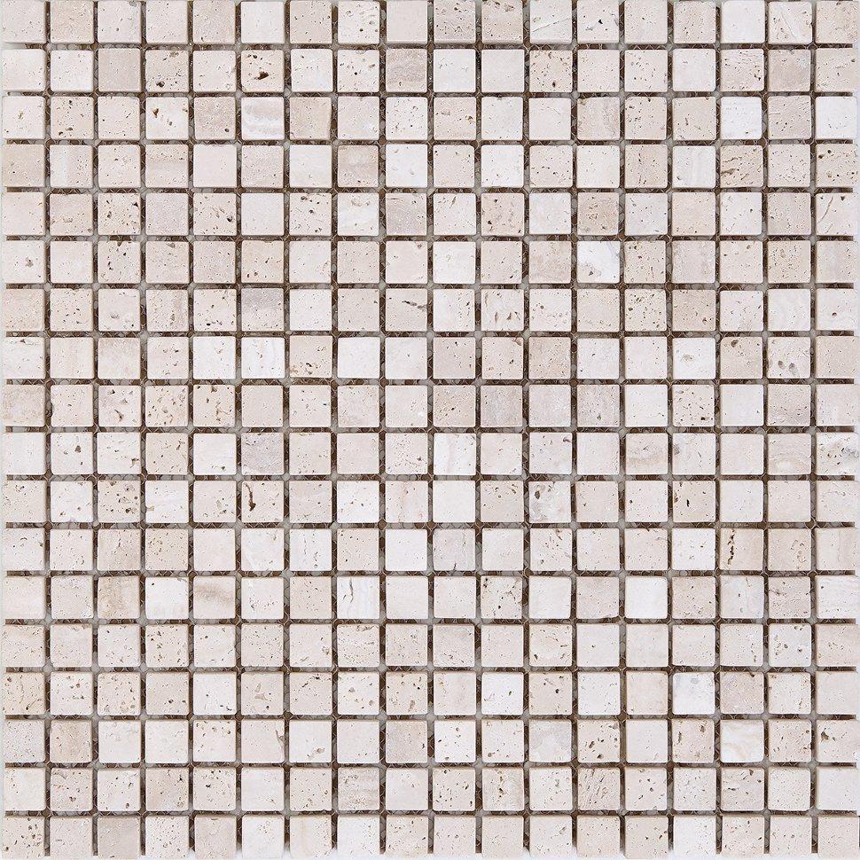 Мозаика Mozaico de LUX K-MOS TRAVERTINO T.U. BIANCO