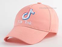 Стильная детская кепка с вышивкой Tik Tok пудра