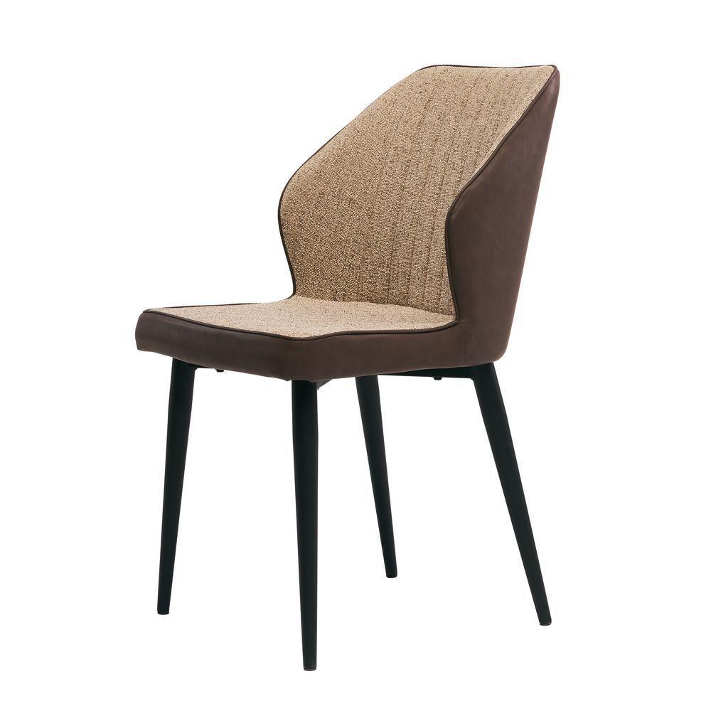 Обідній крісло Chelsea (Челсі) коричнева тканина + екокожа від Concepto