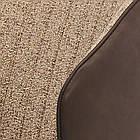 Обідній крісло Chelsea (Челсі) коричнева тканина + екокожа від Concepto, фото 4
