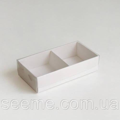 Коробка з пластиковою кришкою для 2 цукерок 80х40х25 мм