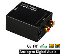 Конвертер оптичний аудіо з аналога на цифру з тюльпанів -> оптика, фото 1