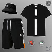 Мужской летний комплект Puma (шорты, футболка, панама), шорты пума, футболка пума, панама пума, фото 1