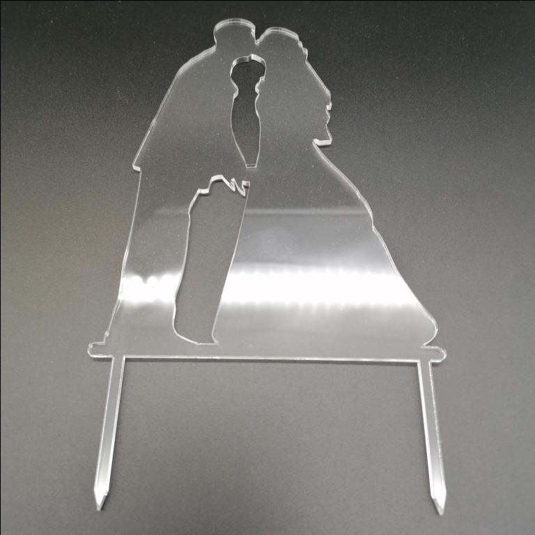 Акриловый топпер для свадебного торта, 15х11 см (арт. AK-TPR-019)