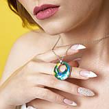 Серебряные серьги с эмалью ( Серьги кольца), фото 3