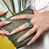 Серебряные серьги с эмалью ( Серьги кольца), фото 4