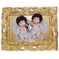 Картина из фарфора «Два ангела» Zampiva, 80х60 см (517-6005)