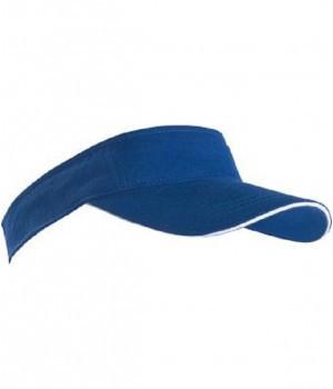 Молодежная кепка-козырек ярко-синего цвета на лето