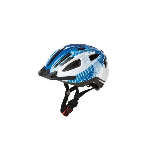 Дитячий велосипедний шолом CRIVIT XS (49-54) бело-голубой