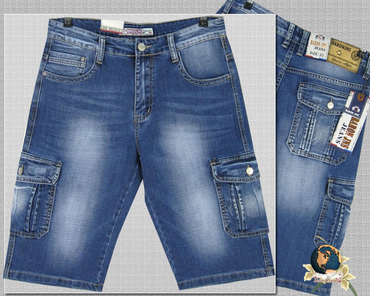 Шорты мужские джинсовые карго