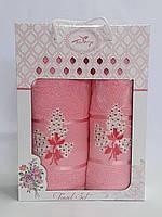 Набор махровых полотенец 03 Bouquet Ярко-Розовый