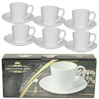"""Чайный набор """"Aristocrat"""" 12 предметов фарфор (240 мл.), фото 1"""