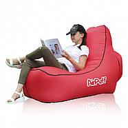 Надувний лежак крісло AirPuff для відпочинку на природі і пляжі (Red), фото 2