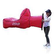 Надувний лежак крісло AirPuff для відпочинку на природі і пляжі (Red), фото 4