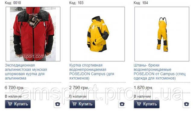штормовые и горнолыжные куртки