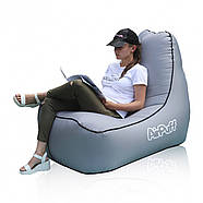 Надувное переносное кресло AirPuff для отдыха (Silver), фото 2