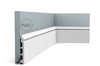 Плинтус напольный Orac Decor Axxent SX118,(13.8x1.8x200 см),лепной декор из дюрополимера. -