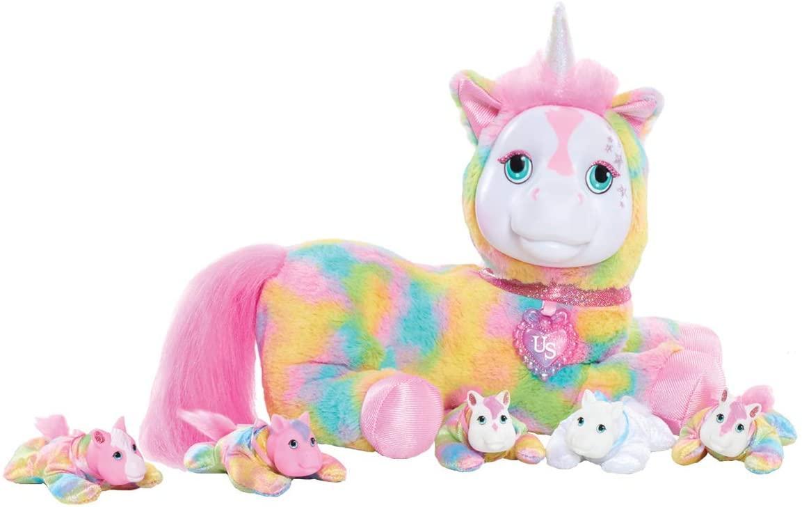 Just Play Unicorn Surprise Беременный единорог с сюрпризом Кристал 42495 Crystal Plush