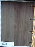 Міжкімнатні двері Новий стиль екошпон Гармонія зі склом сатин, колір Кедр, фото 2
