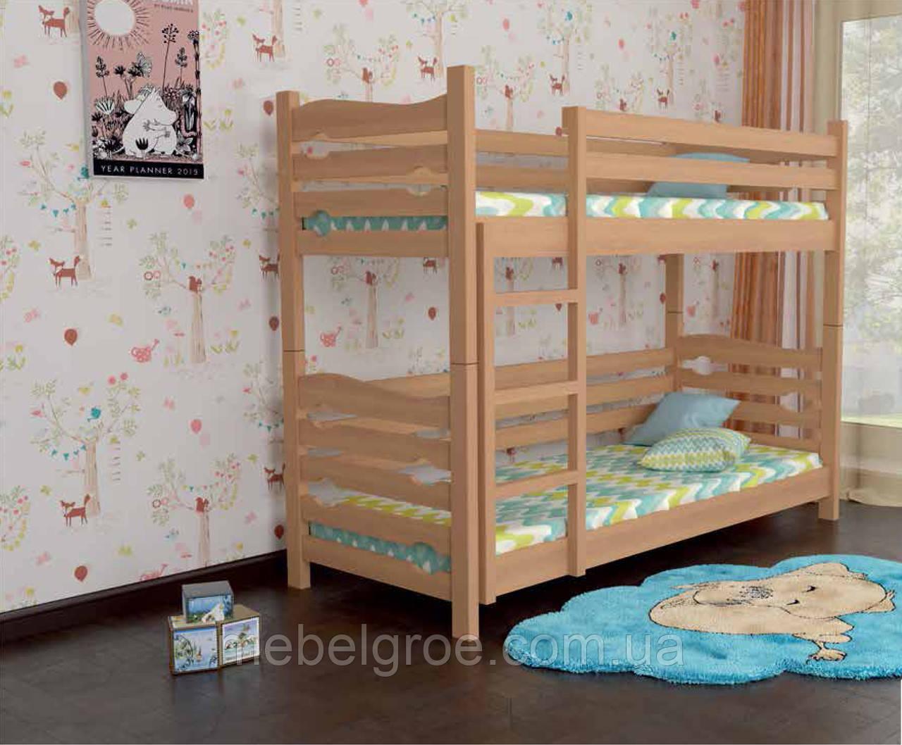 Деревянная двухъярусная кровать 90 Лилу тм Мекано