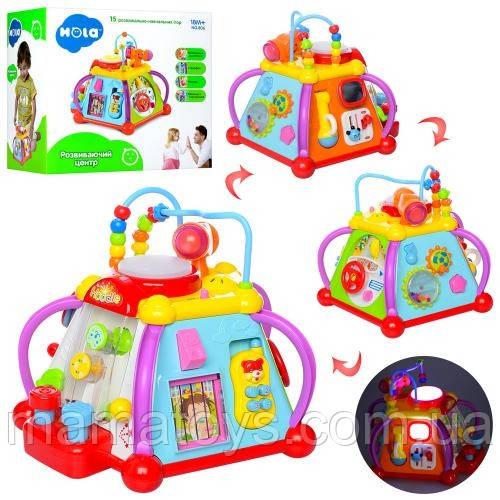 Детская Развивающая музыкальная игрушка Мультибокс 806 для малышей сортер, звук  15 игр.