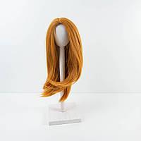 Парик для куклы, прямые карамель (объем 25-28) - длина около 28 см